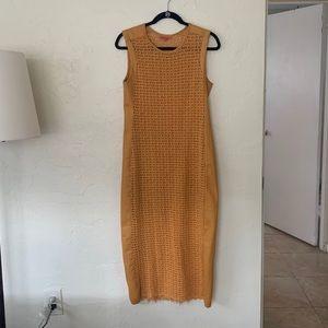 Manning Cartell   Mustard Crochet Maxi Dress